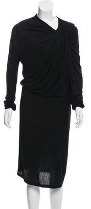Lanvin Gathered Midi Dress
