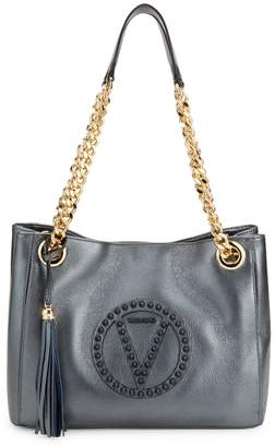 Mario Valentino Valentino By Luisa Rock Dollaro Studded Leather Tote