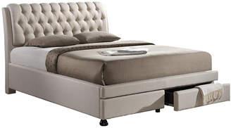Baxton Studio Design Studios Ainge Storage Queen Bed