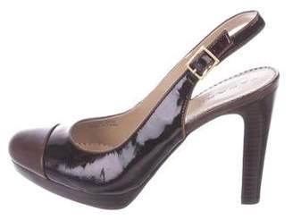 9a78683c626 Tahari Patent Leather Cap-Toe Pumps