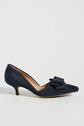 All Black Bow Heels