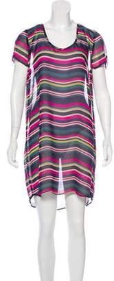Joie Semi-Sheer Mini Dress