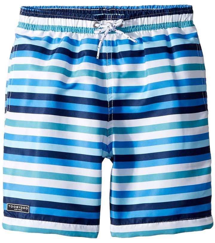 Multi Blue Stripe Swim Shorts Boy's Swimwear