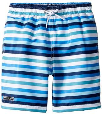 Toobydoo Multi Blue Stripe Swim Shorts Boy's Swimwear