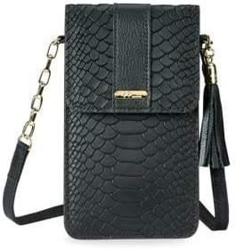 GiGi New York Penny Embossed Leather Crossbody