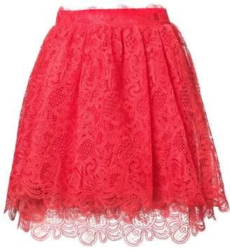 Ermanno Scervino lace flared skirt