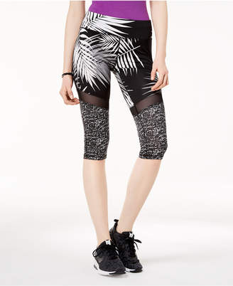Material Girl Active Juniors' Illusion-Mesh Cropped Leggings