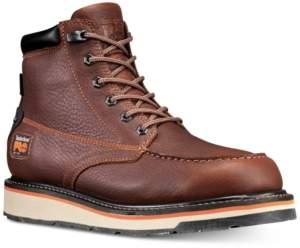 "Timberland Men's Pro Gridworks 6"" Moc-Toe Waterproof Boots Men's Shoes"