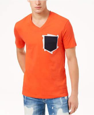 Armani Exchange Men's V-Neck Pocket T-Shirt