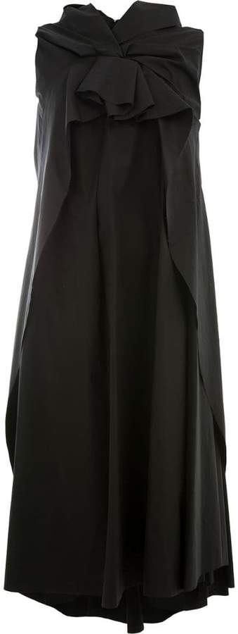 Aganovich oversized knot detail dress
