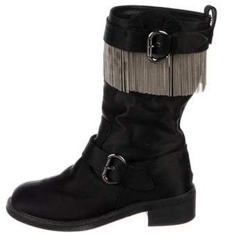 Giuseppe Zanotti Satin Embellished Boots