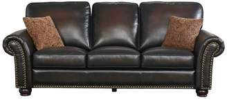 Abbyson Harrigan Hand Rubbed Brown Leather Seating