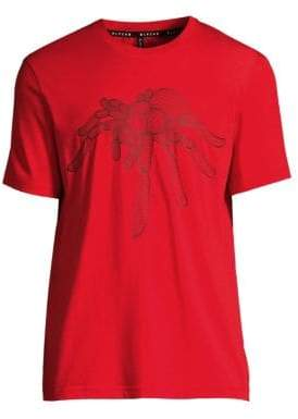Black Barrett Cotton Mesh Spider T-Shirt