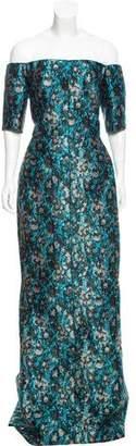 J. Mendel Brocade Evening Gown