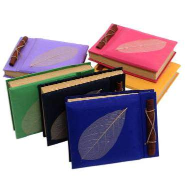 Happy Leaf Natural Fiber Notebooks (Set of 6)
