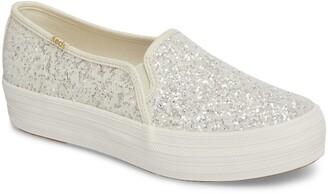 Kate Spade Keds® for triple decker glitter slip-on sneaker