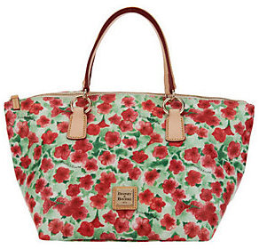 Dooney & Bourke Floral Print Coated Canvas Tulip Tote $149 thestylecure.com