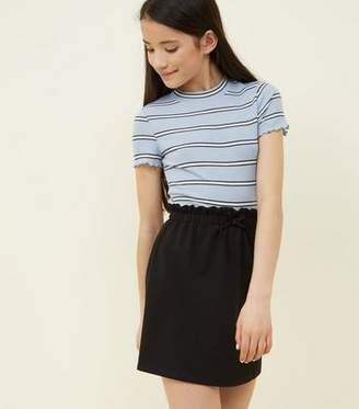 New Look Girls Black Paperbag Waist Skirt