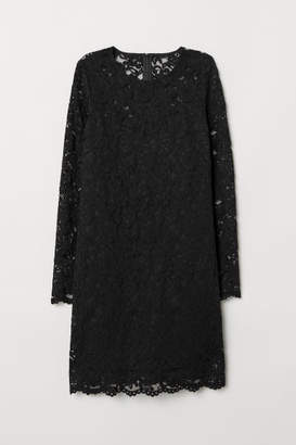 H&M Short Lace Dress - Black