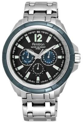 Armitron Men's Dress Round Watch, Silver Bracelet
