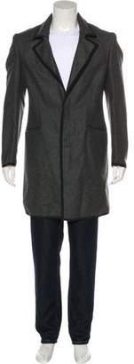 Alexander McQueen Deconstructed Wool & Cashmere Overcoat