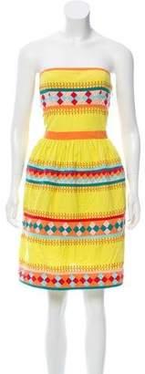 Leifsdottir Embroidered Strapless Dress