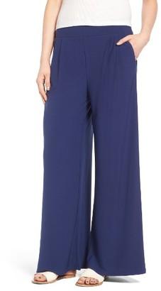 Women's Leith High Waist Wide Leg Knit Pants $55 thestylecure.com
