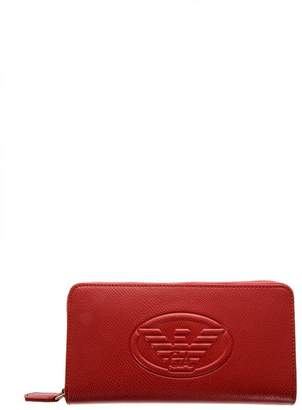 Emporio Armani Red Frida Faux Leather Wallet