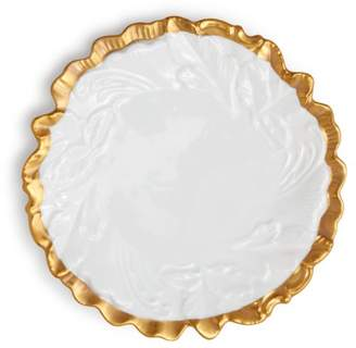 Anna Weatherley Anna's Golden Patina Embossed Leaf Plate