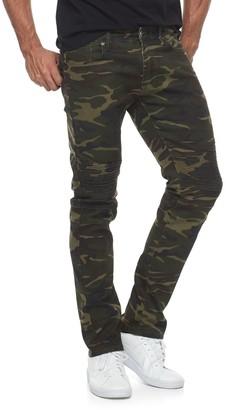 Rawx Men's RawX Camo Slim-Fit Moto Stretch Jeans
