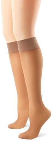 Hanes Women's Alive Full Support 2 Pack Sheer Knee Highs