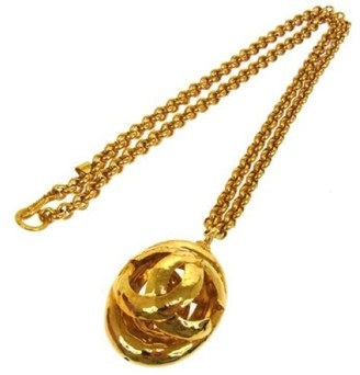 CC Logos Gold Chain Necklace