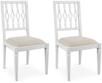 One Kings Lane Flax Linen Avice Side Chairs - Set of 2
