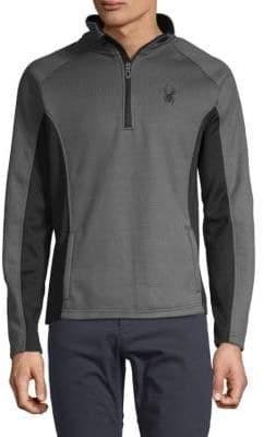 Spyder Quarter-Zip Contrast Sweater