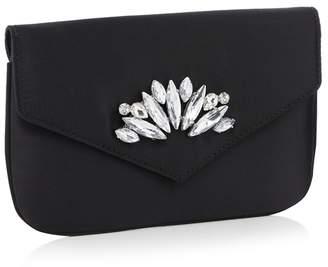 45f5d6d61bee2 at Debenhams · Faith - Black Crystal Embellished Satin  Peaches  Clutch Bag