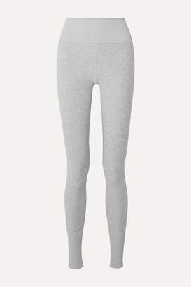 Alo Yoga Lounge Melange Stretch-jersey Leggings - Light gray