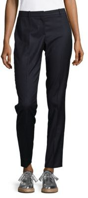 Tiluni Virgin Wool Slim Pinstripe Pants $255 thestylecure.com