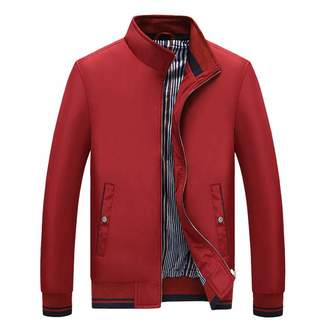 13a9472fa7517 DaySeventh Clothes Mens Autumn Winter Casual Plus Size Stand Collar Pure  Color Baseball