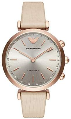 Emporio Armani Women's 'Hybrid' Quartz Stainless Steel and Leather Smart Watch