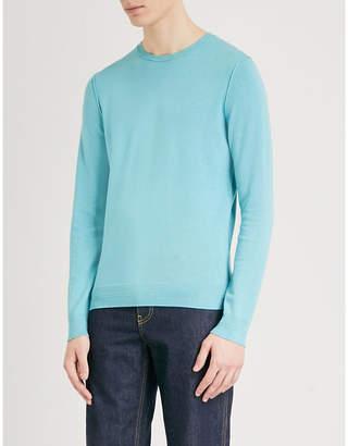 BOSS ORANGE Crewneck cotton-blend jumper