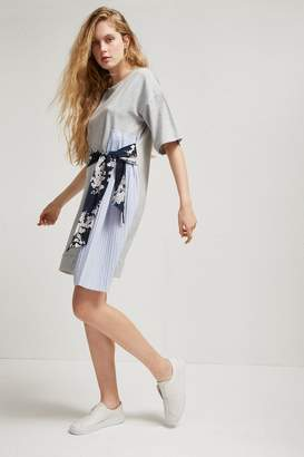 French Connection Ono Jersey Tie Waist Dress