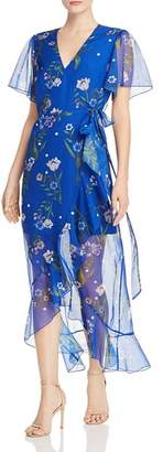 GUESS Junia Floral-Print Wrap Dress