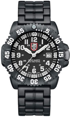 Luminox 44mm Navy SEAL 3050 Series Colormark Watch, Black/White $450 thestylecure.com