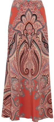 Etro - Paisley-print Silk Maxi Skirt - Coral $1,610 thestylecure.com