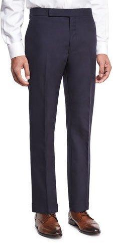 Ralph Lauren Slim-Fit Fresco Wool Trousers, Navy