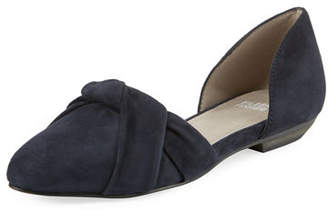 Eileen Fisher Full Suede Two-Piece Ballet Flats
