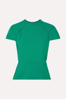 Roland Mouret Cymatia Crepe Top - Green