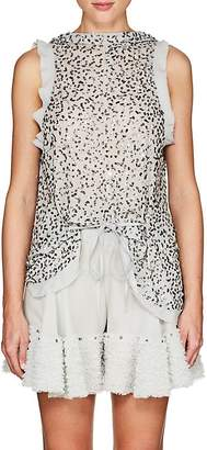 Chloé Women's Sequined Chiffon Drawstring Top