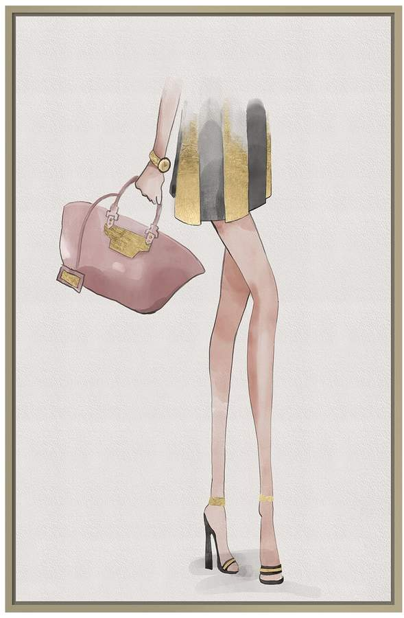 Jonathan Bass Studio Pink Bag (Framed Canvas)