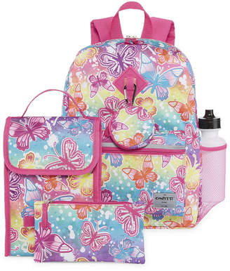 Confetti Butterfly 6pc Backpack Set